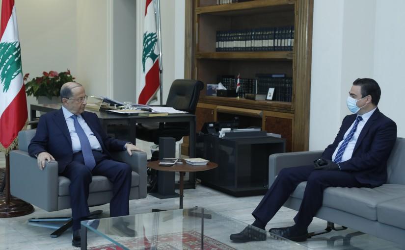 President Michel Aoun Meets MP Nicolas Sehnaoui