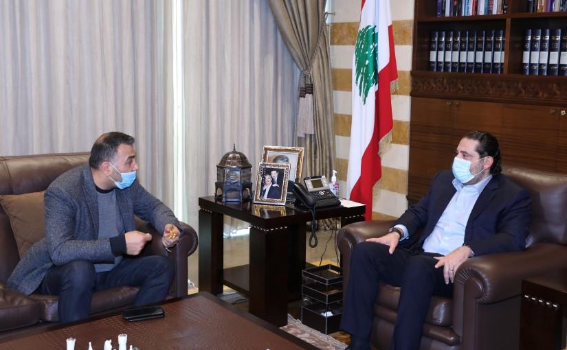 Former Pr Minister Saad Hariri meets MP Othman Alam el Dine