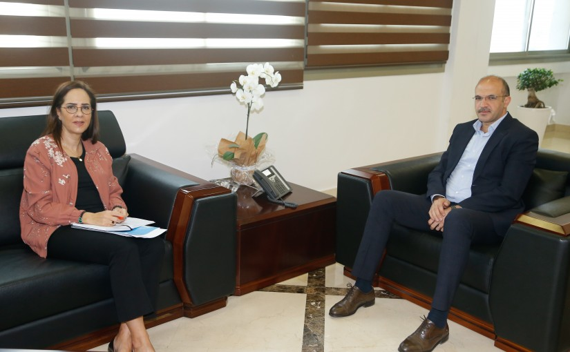 Minister Hassan Hamad meets Dr Iman el Chankiti