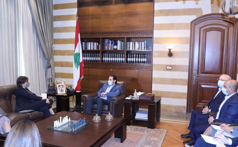 Former Pr Minister Saad Hariri meets Canadian Ambassador