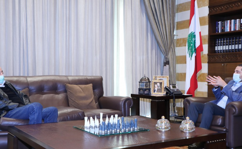 Former Pr Minister Saad Hariri meets Former MP Walid Jounblat