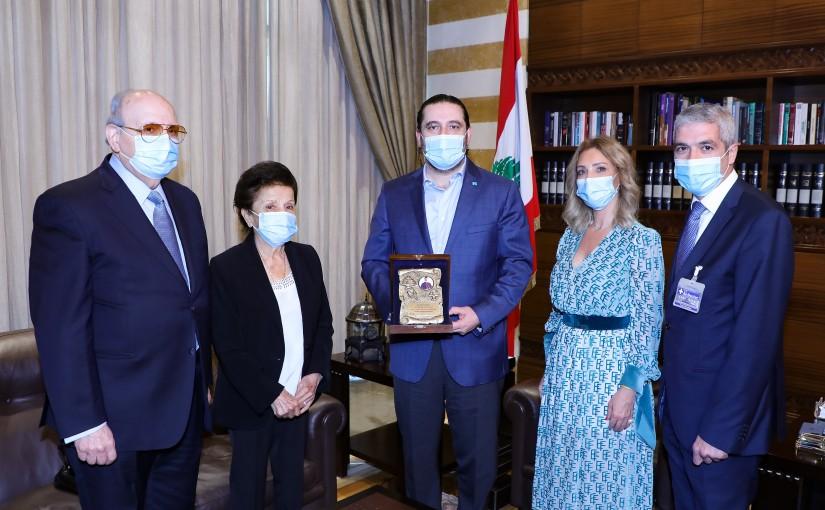 Former Pr Minister Saad Hariri meets a Delegation from Patriarch Nassralah Sfeir Association
