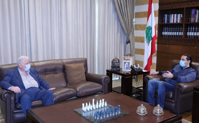 Former Pr Minister Saad Hariri meets Mr Mouhamad  Yammout