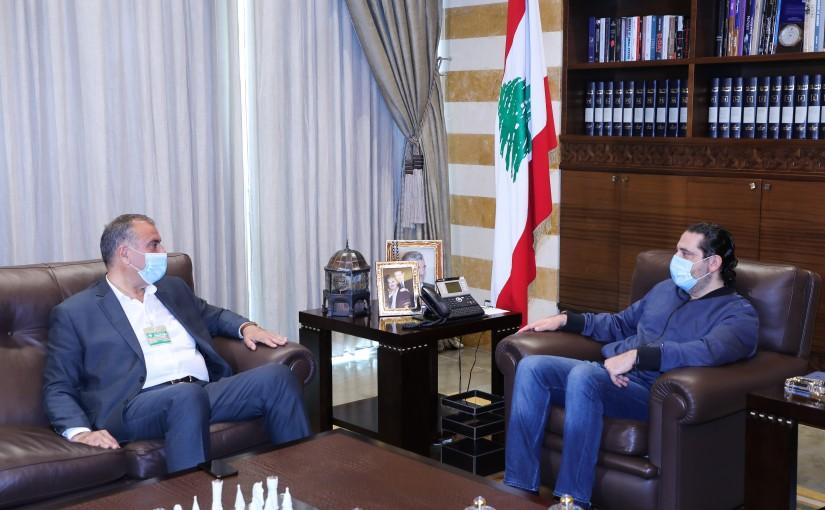 Former Pr Minister Saad Hariri meets MP Mouhamad Sleiman