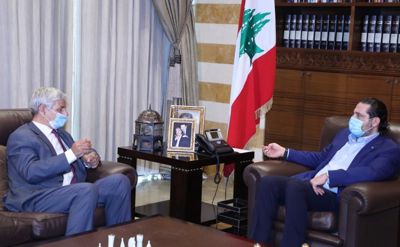 Former Pr Minister Saad Hariri meets MP Baker Houjairi