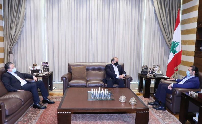 Former Pr Minister Saad Hariri meets Mr Charle Arbid