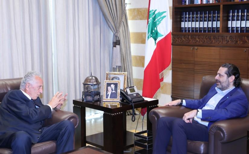Former Pr Minister Saad Hariri meets Mr Marwan Iskandar