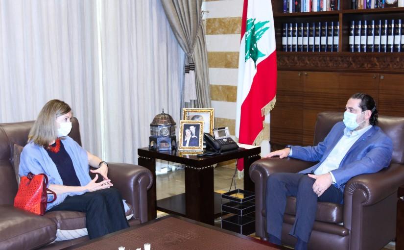 Former Pr Minister Saad Hariri meets Italian Ambassador