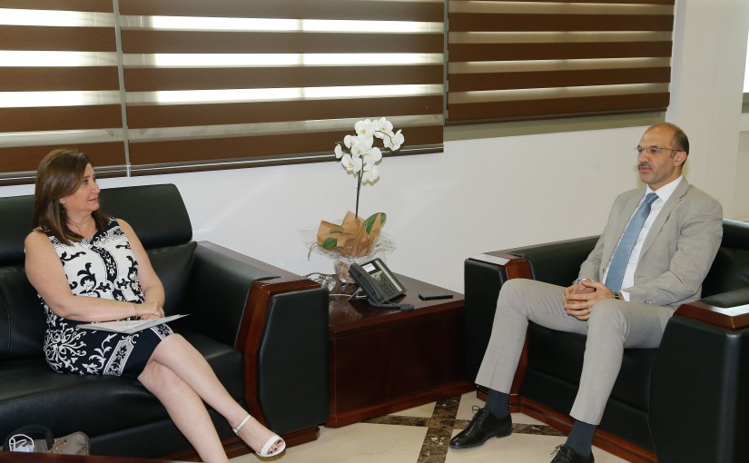 Minister Hassan Hamad meets Mrs Salma Assi