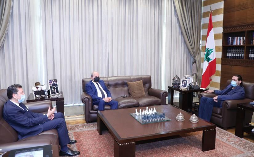 Former Pr Minister Saad Hariri meets Mr Mahmoud Mouraf