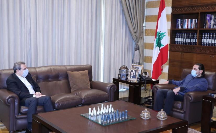 Former Pr Minister Saad Hariri meets MP Wael Abou Faour