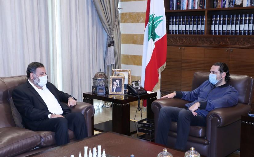 Former Pr Minister Saad Hariri meets Former MP Khaled Daher