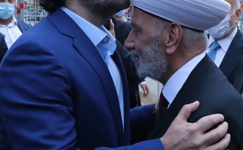 Former Pr Minister Saad Hariri Visits the Grave of the Late Pr Minister Rafic Hariri