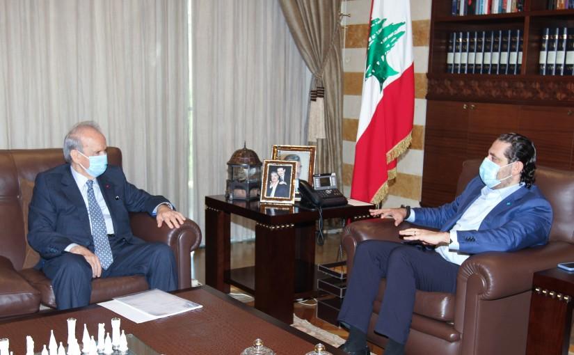 Former Pr Minister Saad Hariri meets Former MP Marwan Hemadeh