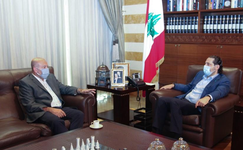 Former Pr Minister Saad Hariri meets Former MP Mustapha Aloush