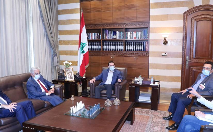 Pr Minister Saad Hariri meets Mr Salim Sfeir