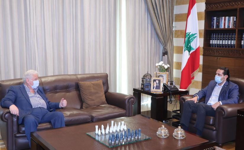 Former Pr Minister Saad Hariri meets Mr Mouhamad Afif Yamout
