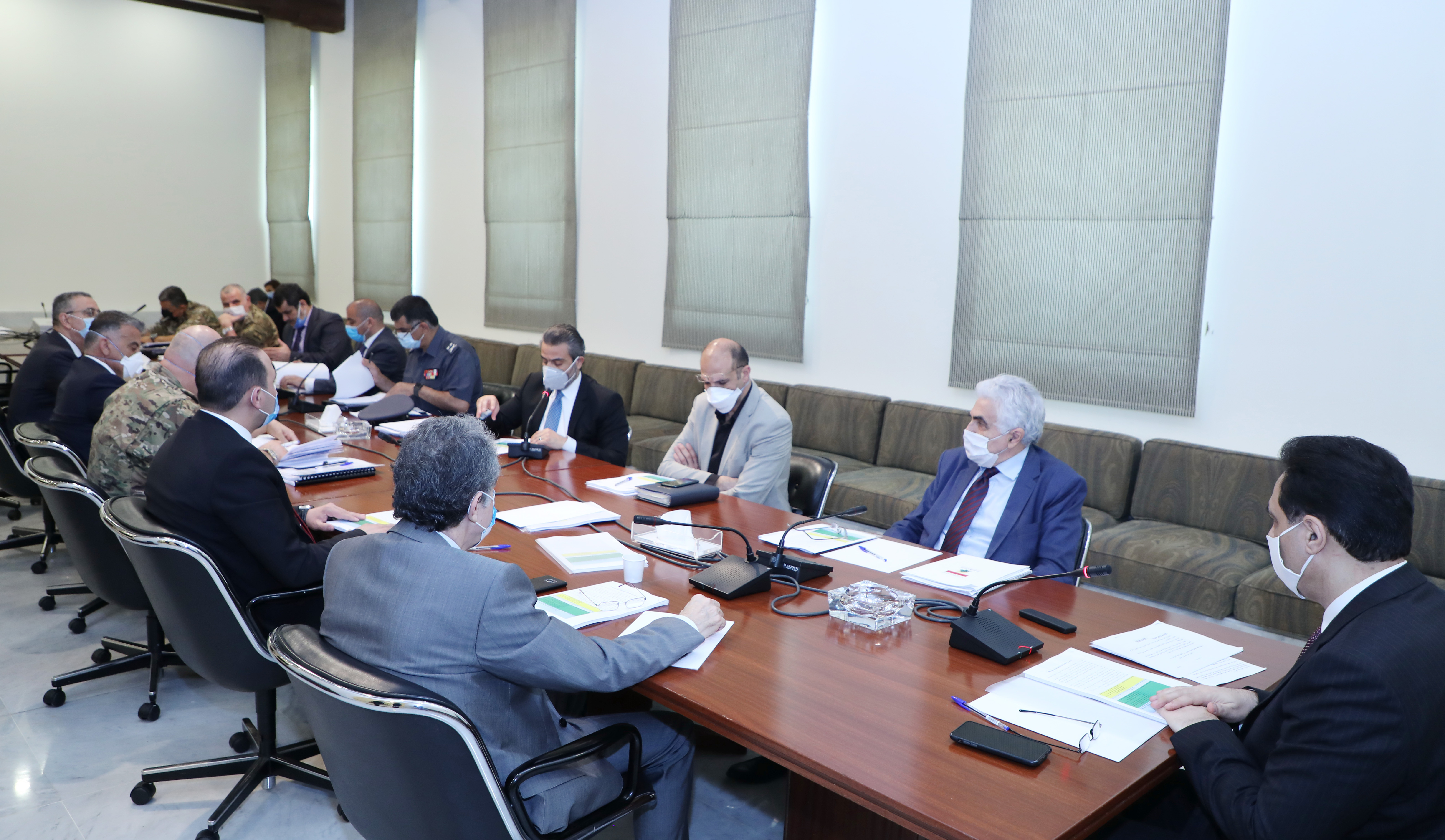 Pr Minister Hassan Diab Heading a Security Meeting 2