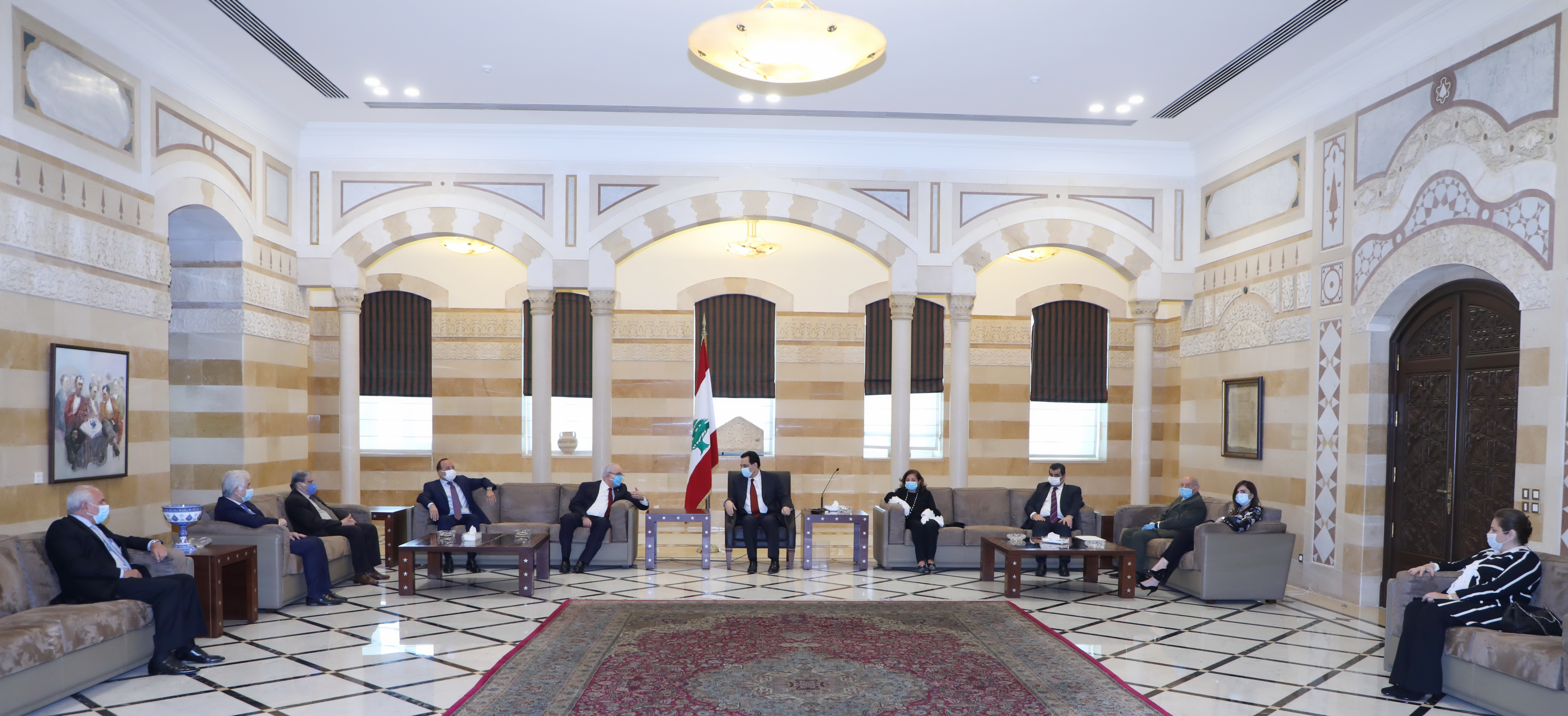 Pr Minister Hassan Diab meets a Delegation from el Makassed 1