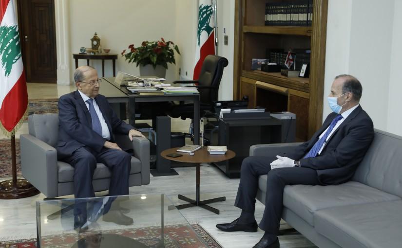 President Michel Aoun Meets Judge Tanios Mechleb