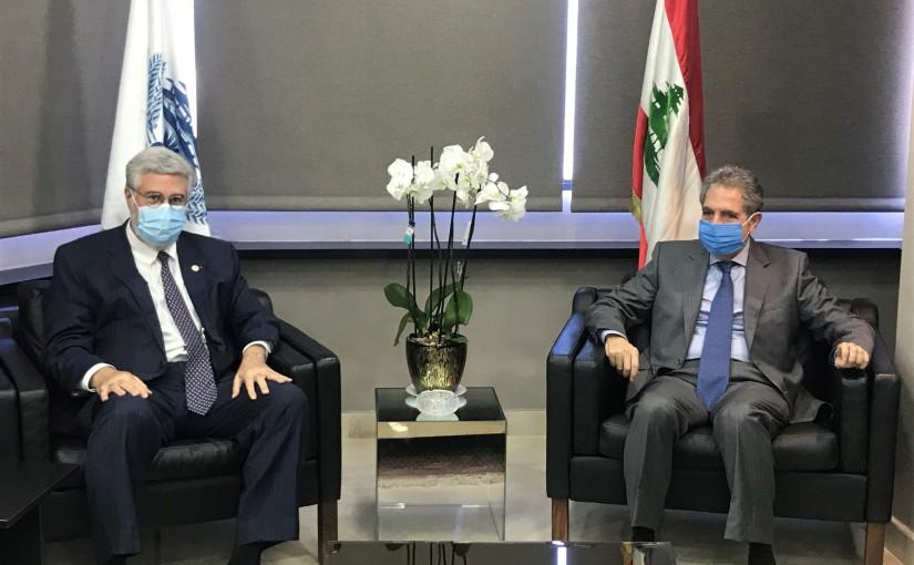 Minister Ghazi Wazni meets Mr Fadlo Khoury