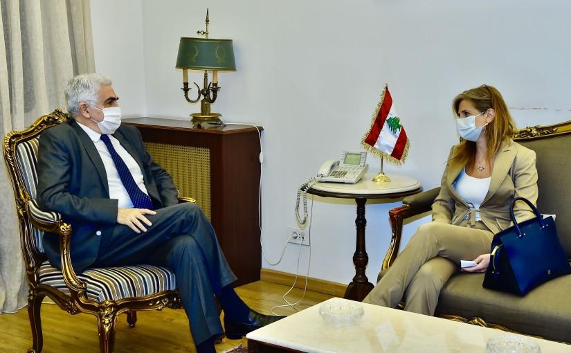 Minister Nassif Hiti meets Mrs Roula Dib