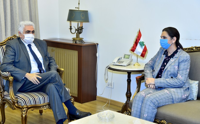 Minister Nassif Hiti meets Mrs Roula Dasty