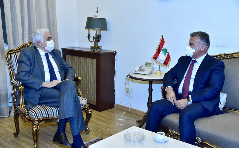 Minister Nassif Hiti meets General Abass Ibrahim