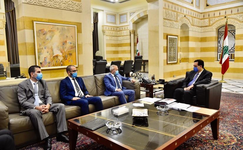 Pr Minister Hassan Diab meets MP Antoine Houbeich