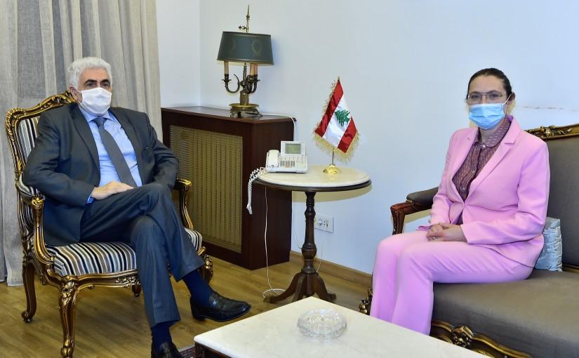 Minister Nassif Hiti meets Denmark Ambassador