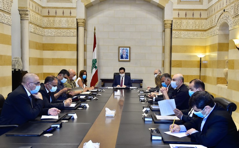 Pr Minister Hassan Diab meets a Delegation Security council