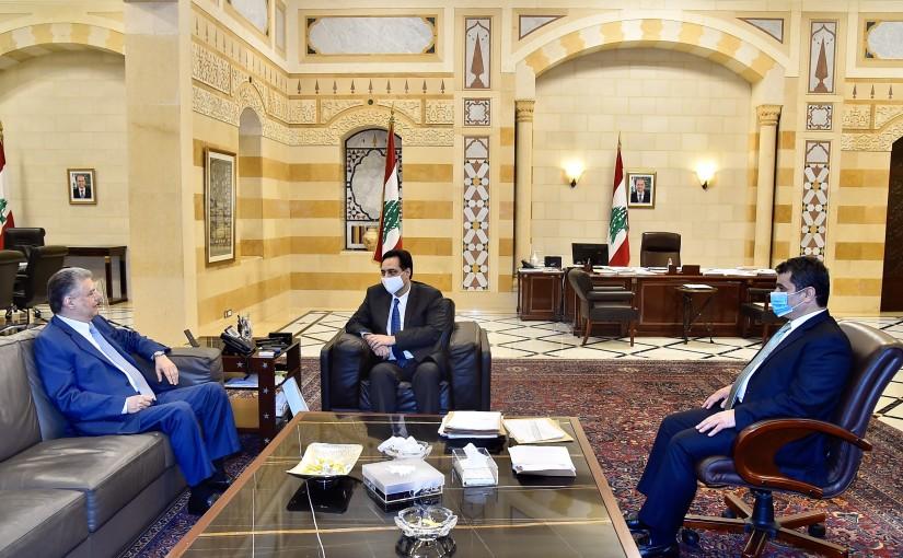 Pr Minister Hassan Diab meets Former MP Atef Majdalani