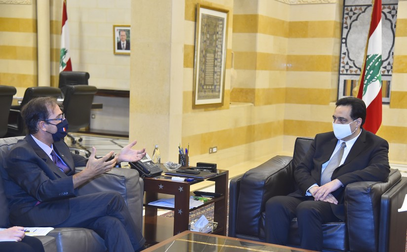 Pr Minister Hassan Diab meets French Ambassador