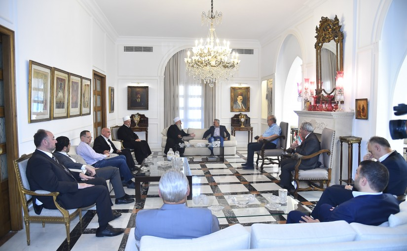 Meeting at the Former Minister Talal Erslan