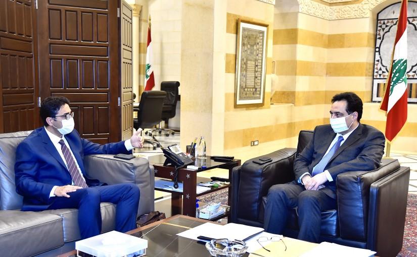 Pr Minister Hassan Diab meets Mr Selim Chahin