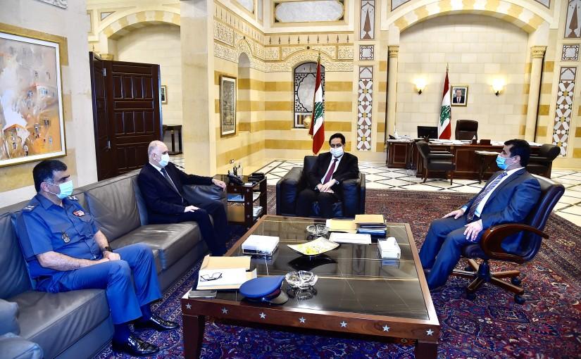 Pr Minister Hassan Diab meets Minister Ahmad Fehmi