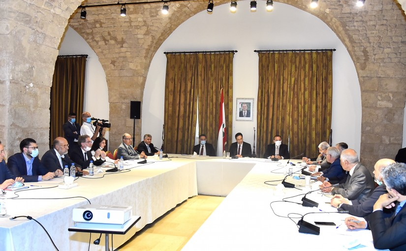 Pr Minister Hassan Diab meets a Delegation from Cheka Company