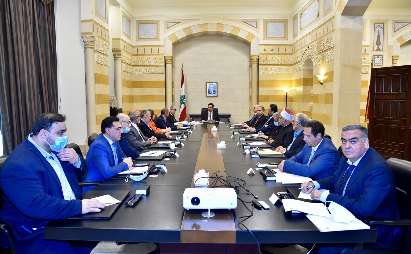 Pr Minister Hassan Diab meets a Delegation from Lebanese Teacher