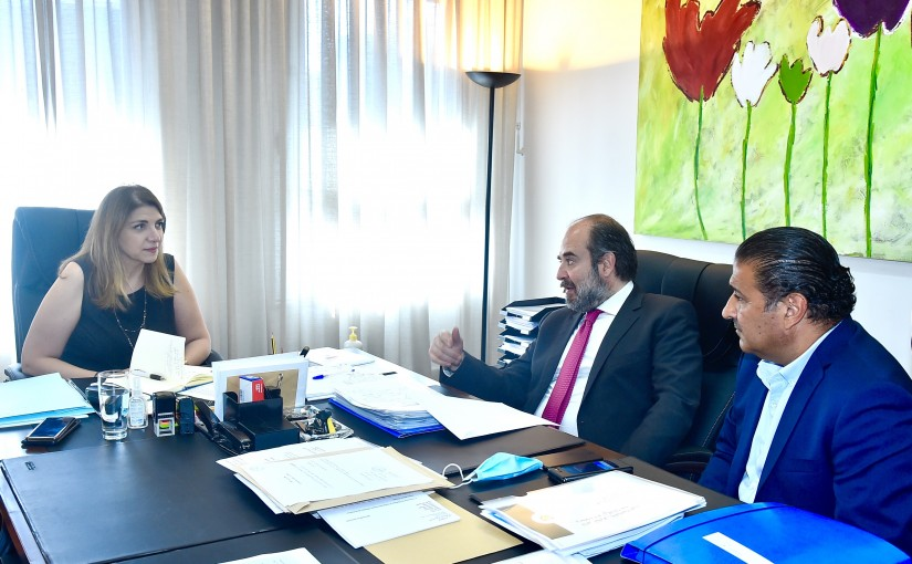 Minister Marie Claude Najem meets MP George Akiss