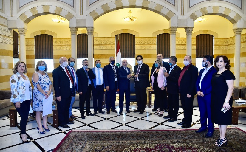Pr Minister Hassan Diab meets a Delegation from Akkar