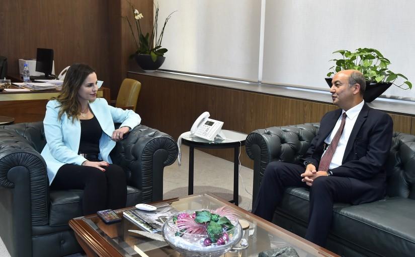 Minister Manal Andel Samad meets Turkish Ambassador