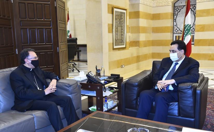 Pr Minister Hassan Diab meets Vatican Ambassador