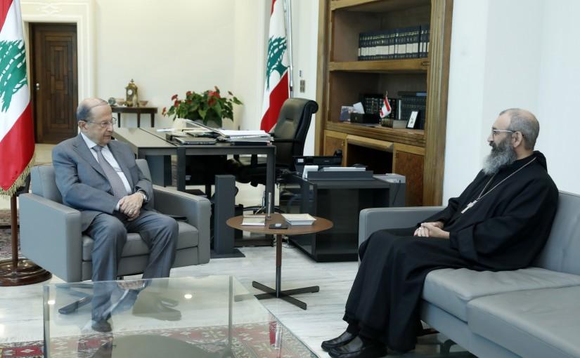 President Michel Aoun Meets Abbot Neamat Allah Al Hachem