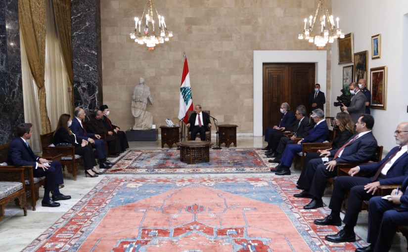 President Michel Aoun Meets a Delegation from Caritas