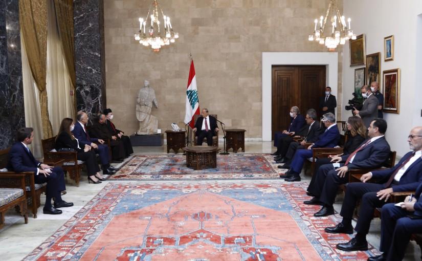 President Michel Aoun Meets a Delegation from Caritas