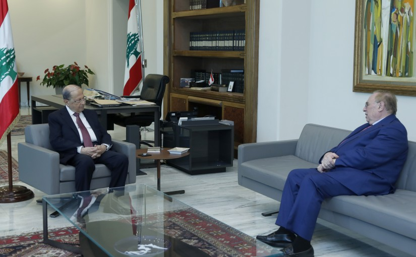 President Michel Aoun Meets MP Farid Bustani