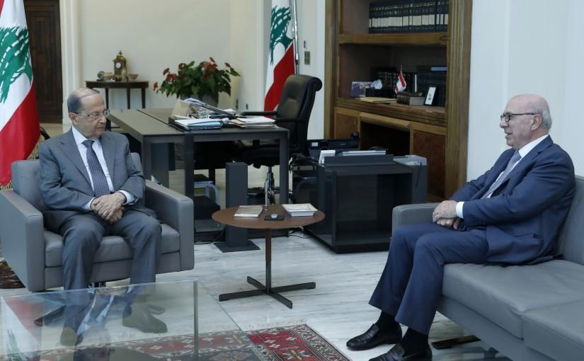 President Michel Aoun Meets Former Minister Chakib Kortbaoui