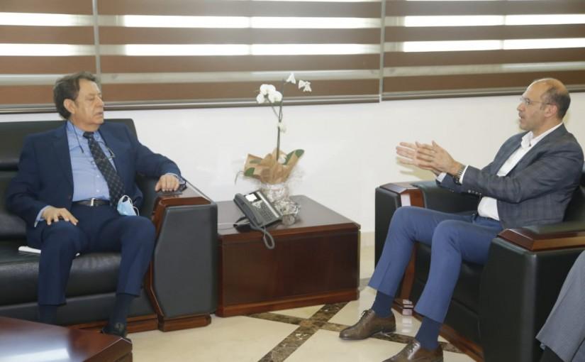 Minister Hassan Hamad meets Mr Sleiman Haroun
