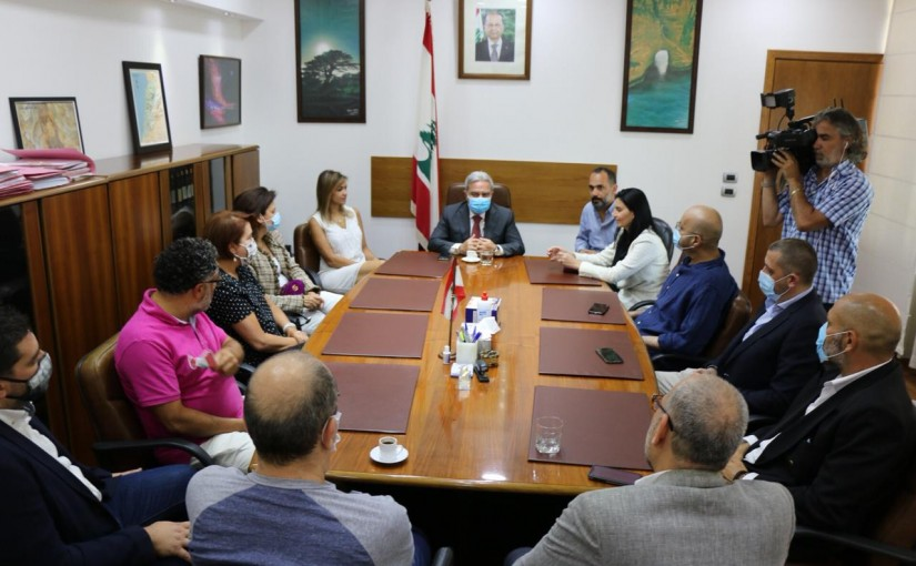 Minister Ramzi Mcharafieh meets a Delegation from Traval Tourism