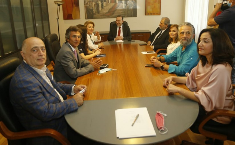 Minister Abass Morthada meets a Delegation from Conservatoire